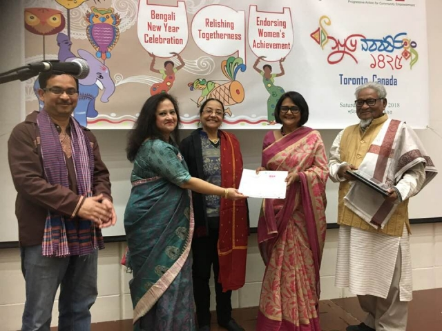 Abu Mohsin, Nusrat Jahan, Rina Shen Gupta, Dr. Tanjina Mirza, and Poet Asad Chowdhury