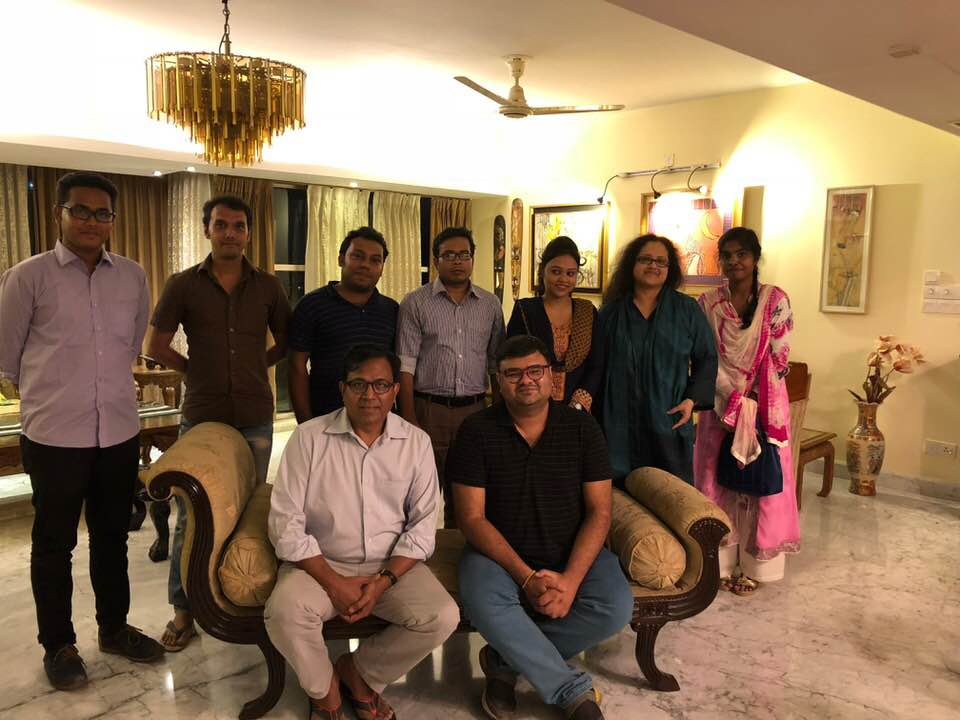 RMM Dhaka team pose for a photo after a monthly review meeting on 30 July 2018.